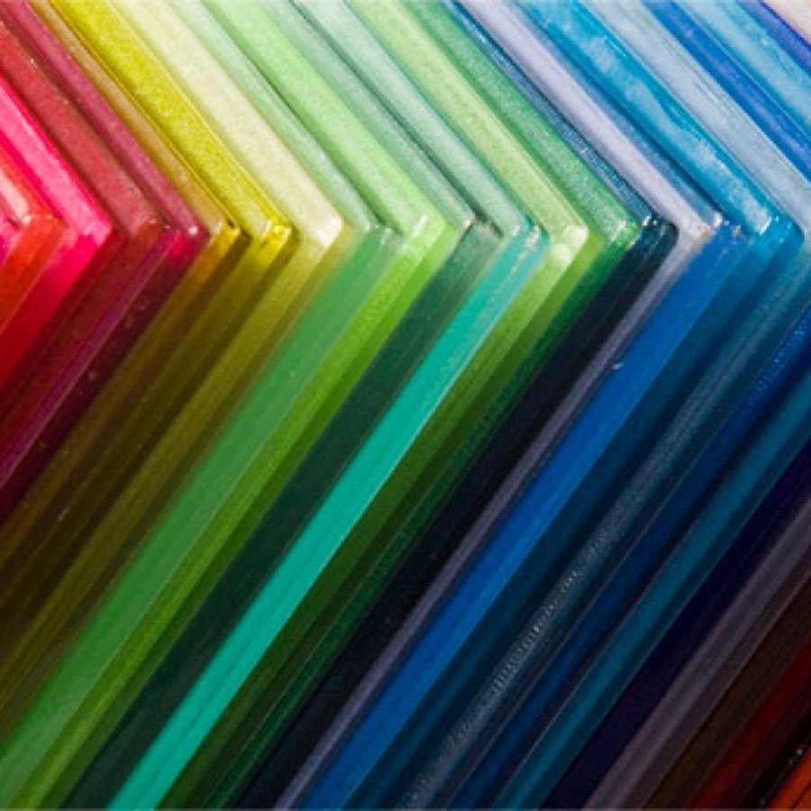 לוחות פרספקס צבעוניים